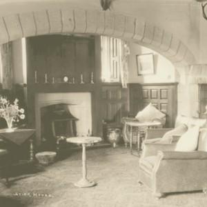 Historic photograph of Stirk House lounge.