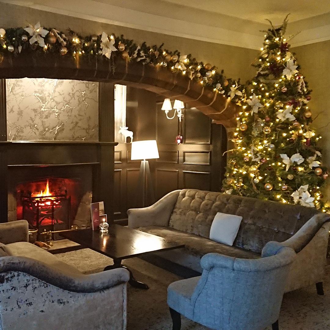 Stirk House Lounge at Christmas