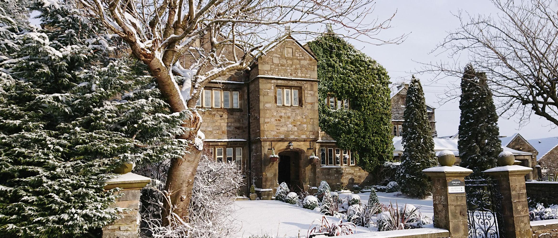 Winter Scene, Stirk House in Snow